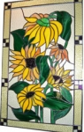 Sunflower - kitchen cabinet window