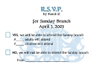 Sunday Brunch RSVP